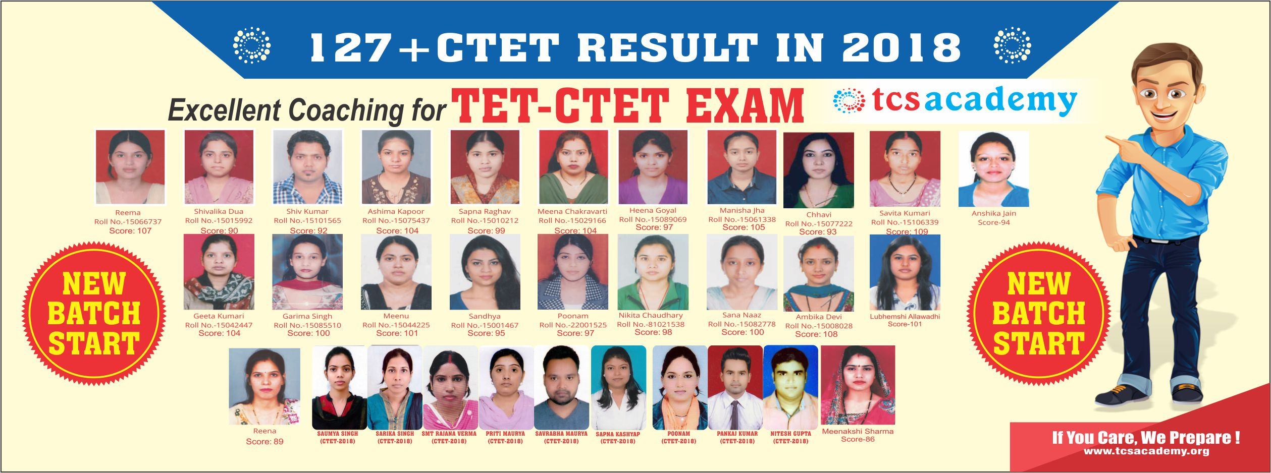 CTET RESULT 2018 - TCS ACADEMY - CTET COACHINGIN LUCKNOW